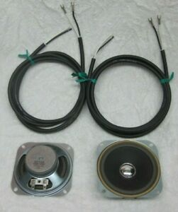 """2 ea. 4"""" X 4"""" Drive In Speakers and 6' replacement wires. For your housings."""