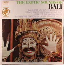 GAMELAN GONG SEKAR ANJAR & GENDER WAJANG: The Exotic Sounds Of Bali LP (directe