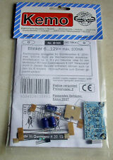 Blinker 6 - 12 V/DC, max. 100 mA / Bausatz Kemo-Electronic
