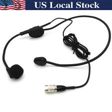 Headset Headworn Microphone For Audio Technica Wireless System With Hirose 4 Pin