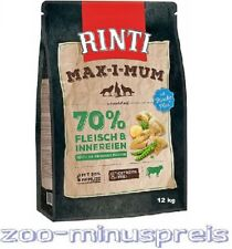 Hundefutter RINTI MAX-i-MUM PANSEN 12 kg, sehr veträgl. Hauptfutter 70 % Fleisch