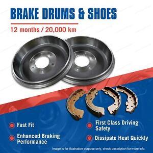 Rear Brake Drums + Brake Shoes for Kia K2700 DRW 2003-On Premium Quality