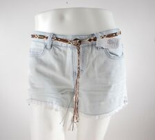 2014 NWT WOMENS ELEMENT FOLK DENIM SHORTS $70 27 bleached out blue washed out