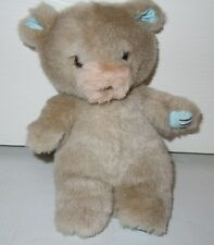 Gibson Greetings Small Taupe Bear w/Blue Polka Dot Hands/Ears - 1987- VINTAGE