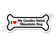 I Love My Greater Swiss Mountain Dog Dog Bone Bumper Sticker Decal Db 214