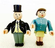 RARE Lot Wooden Thomas Train SIR TOPHAM HATT & LADY HATT Articulated Arms Legs