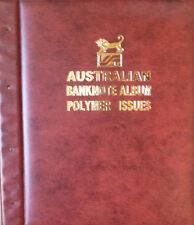 AUSTRALIAN DECIMAL 1988 - 2008 POLYMER BANKNOTE Illustrated ALBUM RED Colour