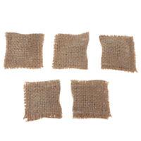 1/12 Dollhouse Miniature 5p Hessian Cloth Cushions Pillow Sofa Bedroom Decor