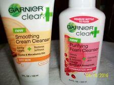 GARNIER PURIFYING FOAM CLEANSER & GARNIER SMOOTHING CREAM CLEANSER DRY & COMBO