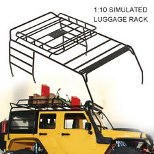 Metal Roof Luggage Rack LED Light Stand For 1/10 RC Car AXIAL SCX10 JEEP 313mm