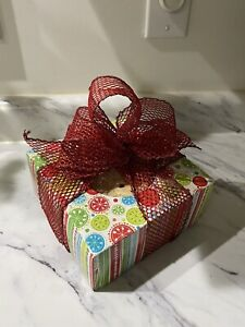 Dog Bones  XL Jumbo Cow Ears Christmas Box And Ribbon Healthy Treats Gift 🎁 🐶
