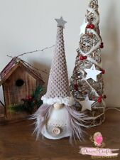 Swedish Tomte Nisser Scandinavian Gnome Christmas Tree on sleigh HandMade in UK