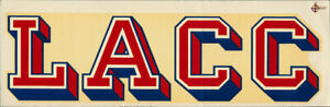 Los Angeles City College _RARE_ ORIG 1950's Decal vtg LACC Cubs California ucla