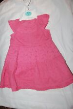 George Dress & Pants Set Pink Broderie Anglaise 100% Cotton Age 0-3 Months BNWT