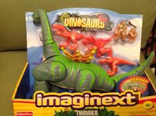 imaginext thunder the brontosaurus dinosaur brand new in boxed 2004 very rare