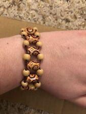 & Beaded Keychain w/ Giraffe Set Of Handmade Beaded Bracelet
