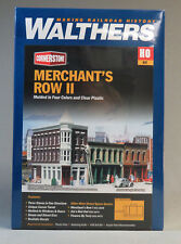 WALTHERS CORNERSTONE HO SCALE MERCHANT ROW II STORES BUILDING KIT W933-3029 NEW