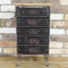 Industrial 5 Drawer Storage Unit Metal Office Organiser Chest Cabinet Furniture