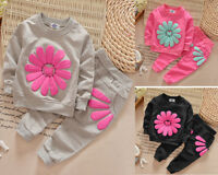 Baby girl clothes Tops&pants 2Pcs Outfits cotton spring fall tracksuit flower