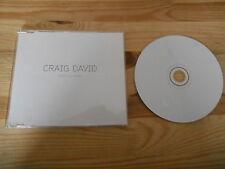 CD Pop Craig David - Walking Away (1 Song) Promo WILDSTAR / EDEL REC sc