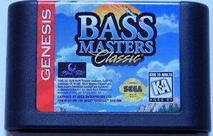 Bass Masters Classic (Sega Genesis, 1994) Video Game!  Works! Cartridge only!