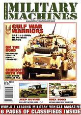 MILITARY MACHINES INTL JUL 03 SAS LAND ROVER 110 DPV_WW2 JEEP GUIDE_LSV_OSHKOSH