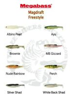 """NEW - Megabass 6"""" Magdraft Freestyle Swimbaits - Choose Color"""