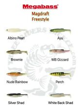 "NEW - Megabass 6"" Magdraft Freestyle Swimbaits - Choose Color"