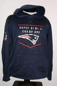 NIKE New England PATRIOTS Super Bowl Mens XL X-Large hoodie/hooded Sweatshirt
