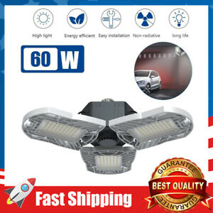 LED Garage Light E26/E27 60W Panels Adjustable 6000lm Ceiling Light (NO Sensor)