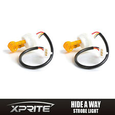 2x Amber HID Hide-A-Way Flash Strobe Tube Spare Replacement Bulbs Light