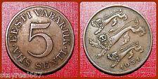Estonia 5 Senti, 1931, Estonia Cent EESTI 5 SENTI KM# 11