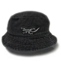 Black Salamander Charcoal Pigment Dyed Bucket Hat - BH1 - New