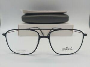 SILHOUETTE 2915 75 eyeglasses glasses frame - black NEW + case titanium