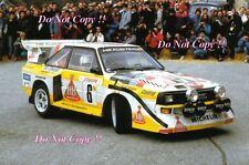 Hannu Mikkola Audi Quattro Sport E2 Monte Carlo Rally 1986 Photograph 2