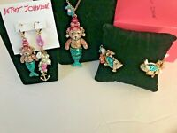BETSEY JOHNSON MERMAID NECKLACE, EARRINGS AND BRACLET USA BOUGHT AND SOLD