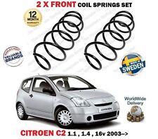 Per CITROEN c2 1.1 1.4 + 16v Benzina 2003 -- > Su Nuovo 2 X Anteriore Molle a Spirale Set