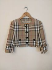 Burberry Women's Cropped Nova Check Jacket Size 10