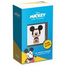 2021 Mickey Mouse 1 oz Silver Proof Chibi Disney New Zealand Mint $2 Niue JK390