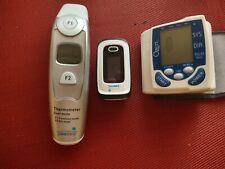 Bp Monitor, Pulse Oximeter & Digital Thermometer Bundle.Thorough Details below