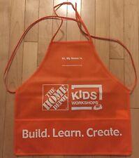 NEW HOME DEPOT KIDS WORKSHOP ORANGE APRON BUILD LEARN CREATE BIRTHDAY GIFT BNIP