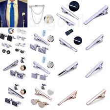 Various Mens Business Wedding Shirt Cufflinks and Necktie Tie Clip Pin Clasp Set