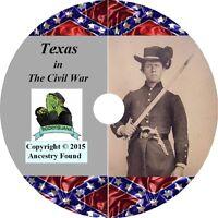 TEXAS Civil War Books History & Genealogy 29 Books on DVD