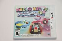 Nintendo 3DS 2DS HELLO KITTY AND SANRIO FRIENDS 3D RACING VIDEO GAME COMPLETE