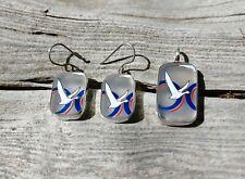 Handmade Grey Goose Vodka Earrings Pendant Set Necklace Jewelry Sterling Silver