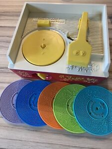 Vintage Fisher Price Record Player 1970's Fully Working