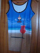 BNWT BEACH/POOL PARTY DRESS/SINGLET -SIZE XXL-18 ONE ONLY- MADE IN ENGLAND