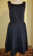 Moulinette Soeurs Sweet Enticement Fit & Flare Dress 8 Anthropologie Navy Lace