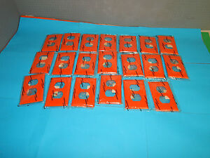 Lot of 20 Hubbell P8OR Orange wall plates 1 Gang
