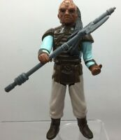 Vintage Star Wars Figure Weequay 1983  Complete With Original Weapon H. K.